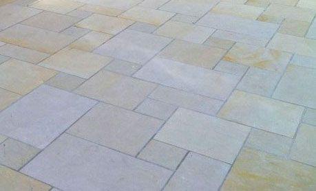 Bodenplatten-Sandstein-gelb